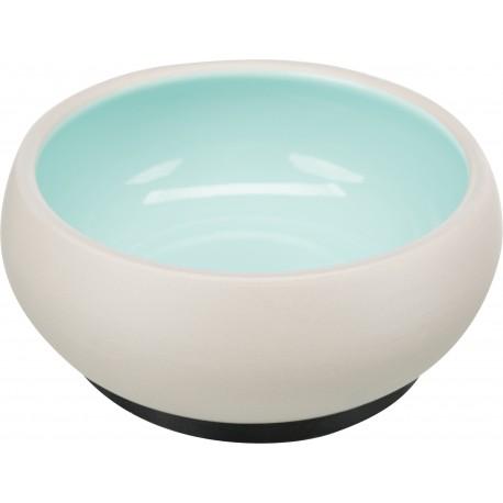 Miska, dla kota, ceramiczna, 1 l/o 17 cm, z gumową podstawą, różne kolory