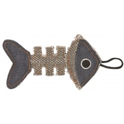 Barry King szkielet ryby z mocnego materiału szary/granatowy 14 x 7,5 cm