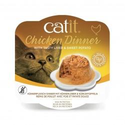 Chicken Dinner, mokry pokarm, dla kota, kurczak, kaczka i ziemniak, 80g, szalka