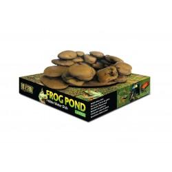 Frog Pond, miska dla żab, w kształcie kamieni, L, 17 x 13,5 x 6 cm/ 110 ml