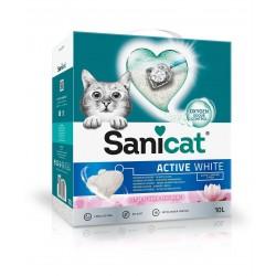 Active White, żwirek, dla kotów, lotos,10L, zbrylający