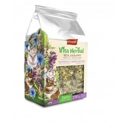 Vita Herbal dla szynszyli i kosztaniczki, mix ziołowy, 150 g, 4szt/disp